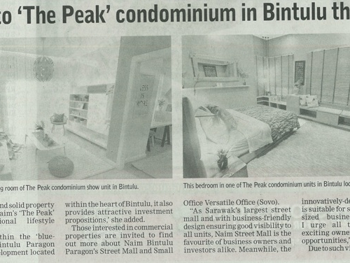 Naim welcomes all to 'The Peak' condominium in Bintulu this Gawai Dayak