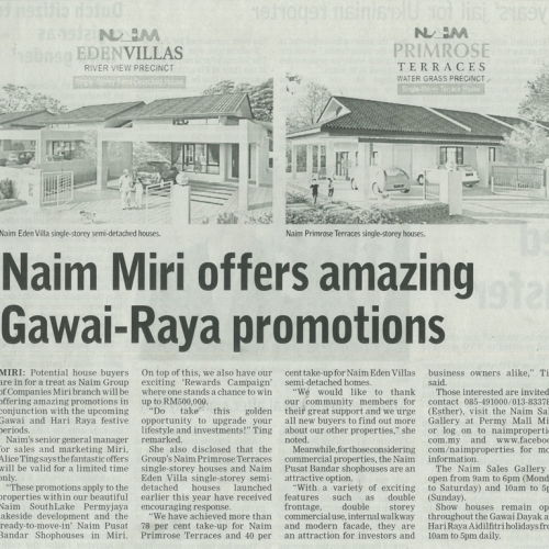 Naim Miri offers amazing Gawai-Raya promotions