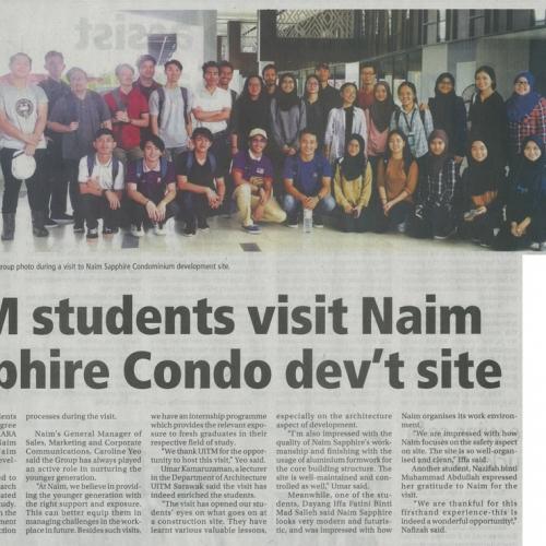 UiTM students visit Naim Sapphire Condo dev't site