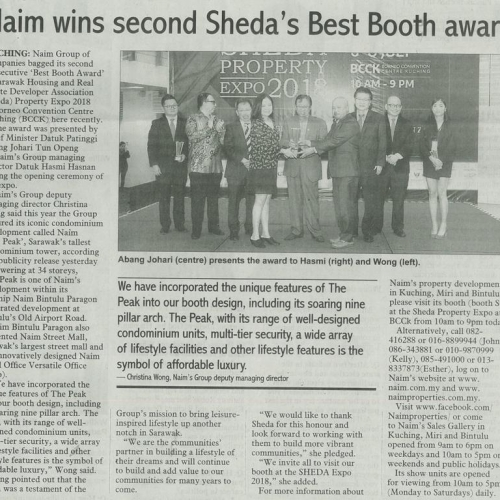 Naim wins second Sheda's Best Booth award