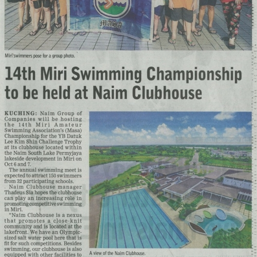 14th Miri Swimming Championship to be held at Naim Clubhouse