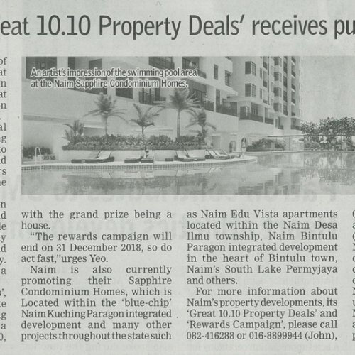 Naim's 'The Great 10.10 Property Deals' receives public interest