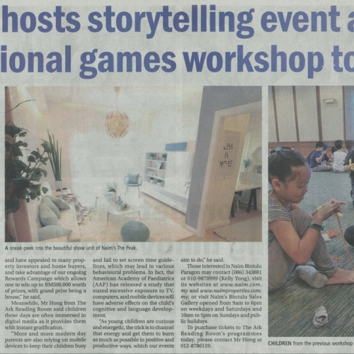 Naim hosts storytelling event and traditional games workshop today