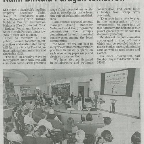 Go green with 3R programme at Naim Bintulu Paragon tomorrow