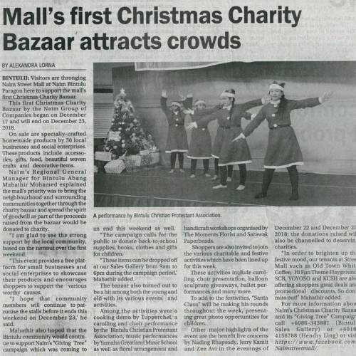 Mall's first Christmas Charity Bazaar attracts crowds