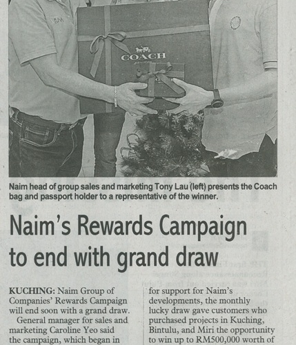 Naim's Rewards Campaign to end with grand draw