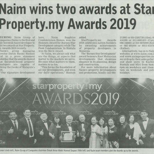 Naim wins two awards at Star Property.my Awards 2019