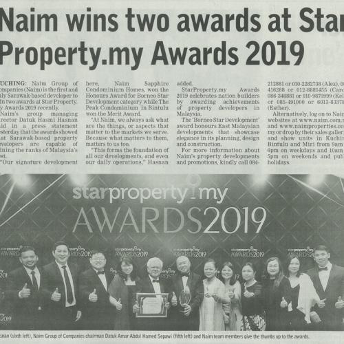 Naim wins two awards at Star Property.my Awards 2019