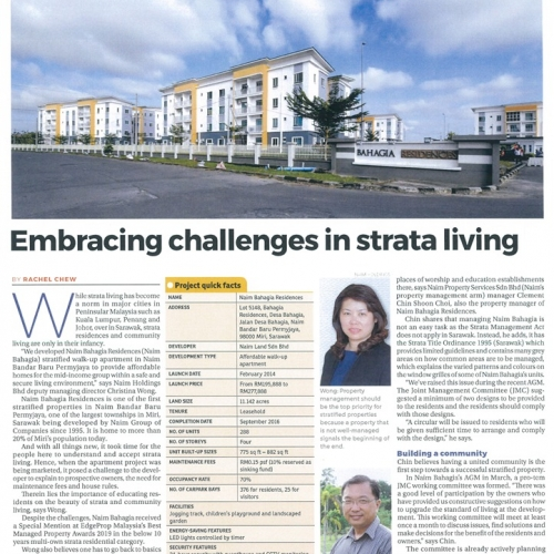 Embracing challenges in strata living