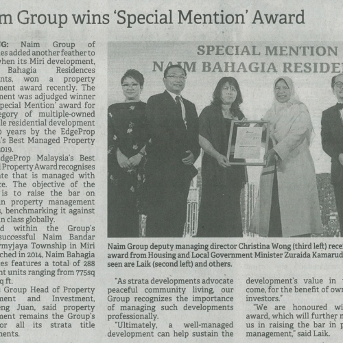Naim Group wins 'Special Mention' Award