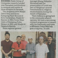 Naim Group presents Ramadan contributions to mosques, suraus