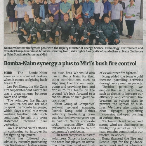 Bomba-Naim synergy a plus to Miri's bush fire control
