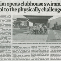 Naim opens clubhouse swimming pool to the physically challenged