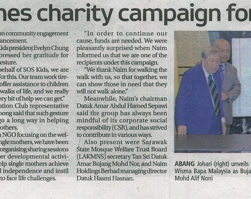 Naim launches charity campaign for NGOs