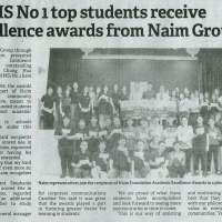CHMS No 1 top students receive excellence awards from Naim Group