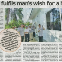 Naim fulfils man's wish for a house